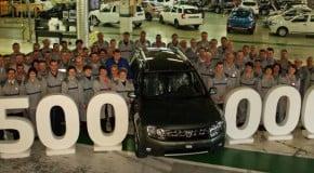 500000 unitati Dacia Duster produse la Dacia Mioveni