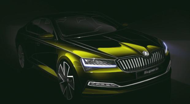 ŠKODA a dezvăluit schiţa de design a noului SUPERB facelift